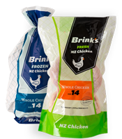 Thumbnail image of Brinks frozen and fresh chicken packaging